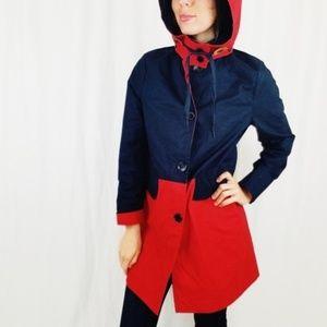 Coach Mac trench hooded coat medium -B6